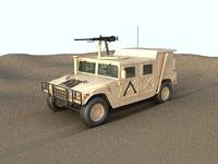 3d hmmwv humvee military model