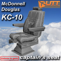 3d model captain s seat kc-10