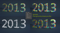 2013 new year c4d