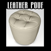 leather pouf obj