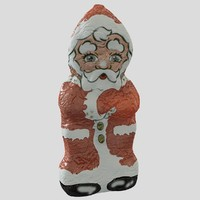 santa claus chocolate 1 3d model