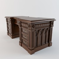 3d furniture table desk model