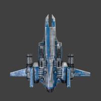 3d model ship ghter