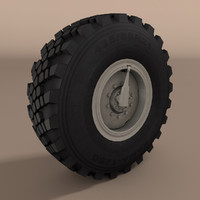 3d kamaz wheel truck model