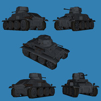 3d german battle tank prototype model