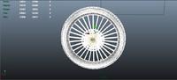3d model bike wheel