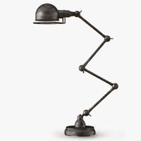 atelier scissor task table lamp 3d model