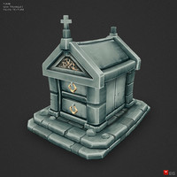 3d model of hand painted tomb