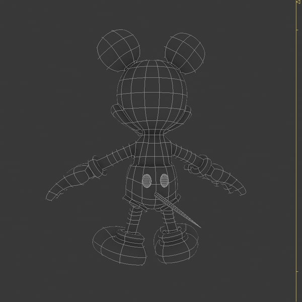 3d mickey mouse - Mickey Mouse... by discontinuite