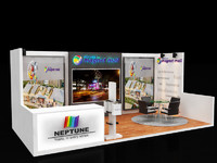 3d model exhibition stall
