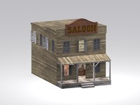 wild west saloon 3d max
