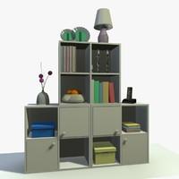 3dsmax white cabinet decor