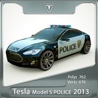 police 2013 tesla s 3d max