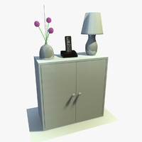 3ds max white cabinet decor