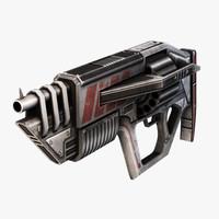 futuristic shotgun 3d model