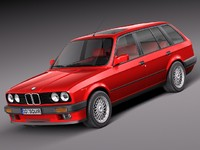 bmw e30 316i touring 3ds