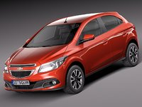 3d model chevrolet onix 2013 hatchback