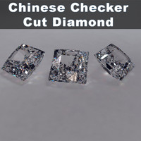 3d chinese checker cut diamond