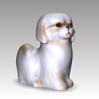 statue dog 3d model