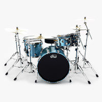 3d model drum kit cymbals