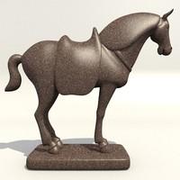 3d horse statuette