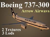 3d boeing 737-300 apw model