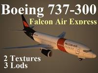 boeing 737-300 fao 3d model