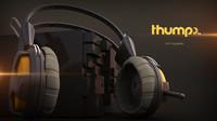 free headphone 3d model