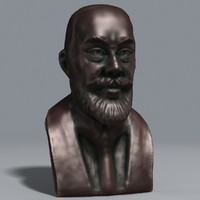 3d model bronze bust nobel