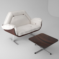 jacaranda armchair otoman jorge 3d model