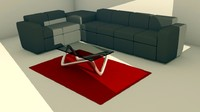 living room furniture sofa 3d fbx