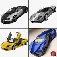 supercars 4 super car 3d model