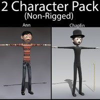 3d character pack 03 guy model
