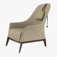 3d model giorgetti normal chair