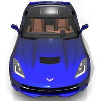 3d model 2014 corvette