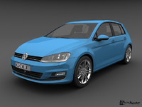 3d model of volkswagen golf 5 doors