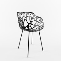 3d model of mesh chair furniture