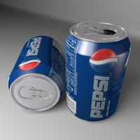 pepsi soft drink 3d model