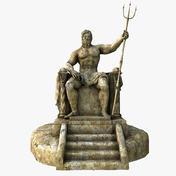 3ds max ancient greek gods - Poseidon statue greece ...
