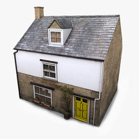 3d realistic village residential house