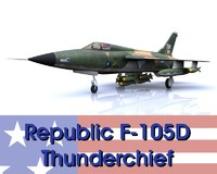 3ds max republic f-105d thunderchief