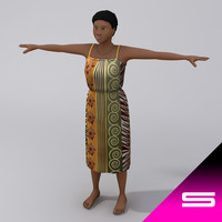african women traditional 3d model