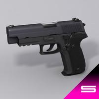 3d model p226 9mm para