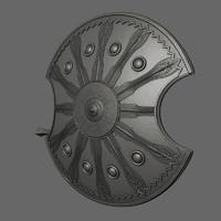 3d ahilles s shield sword model