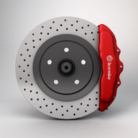 3d car disc brake
