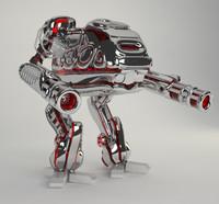 3dsmax hight mech robot