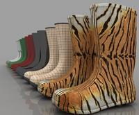 3d modern design rain boots
