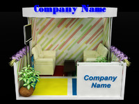 booth design 3d model
