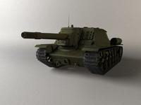 3d su-152 soviet world model