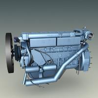 3d model egr engine